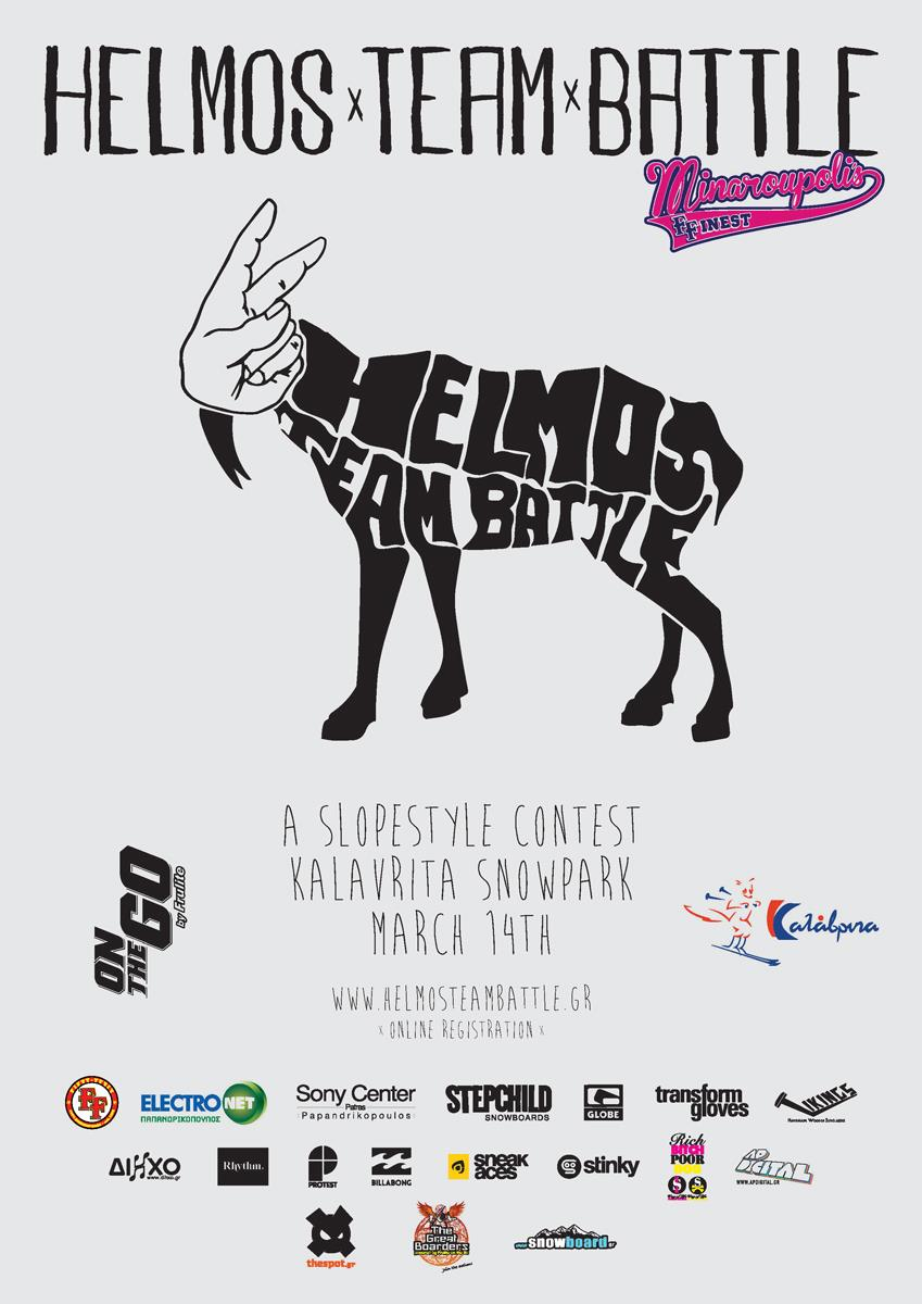 Helmos Team Battle slopestyle snowboard contest